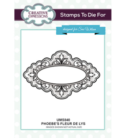 UMS840 To Die For Stamp Phoebe's Fleur de Lys