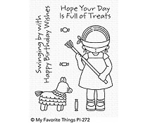 PI-272 My Favorite Things Pure Innocence Birthday Piñata Clear Stamps