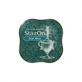 SZM-63 Tsukineko Stazon Midi Ink Pad  Teal Blue