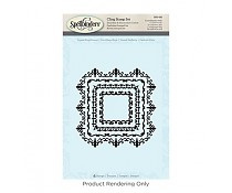 SBS-093 Spellbinders Square Magnificence Stamps