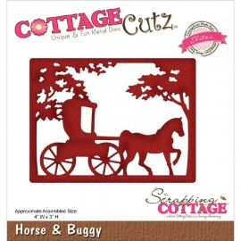 "519972 Cottagecutz Elites Die Horse & Buggy 4""X3"""