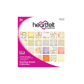 "HCDP1-2121 Heartfelt Creations Double-Sided Paper Pad Dazzling Dahlia 12""X12"""
