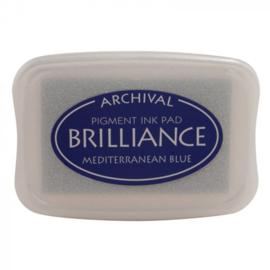 BR1-18 Brilliance ink pad mediterran.blue
