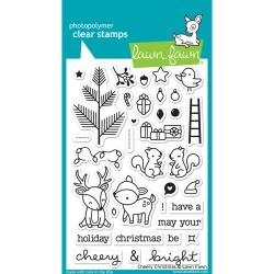 LF1216 Lawn Fawn Clear Stamps Cheery Christmas