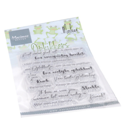 CS1065 Marianne Design Clear Stamps Opkikkers by Marleen