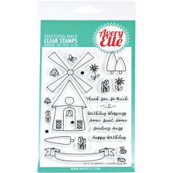 "304076 Avery Elle Clear Stamp Set Windmill 4""X6"""