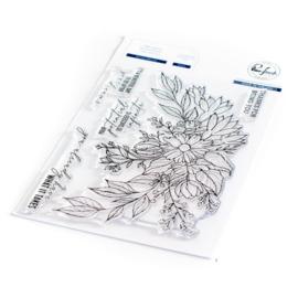 "651223 Pinkfresh Studio Clear Stamp Set Infinite Blooms 4""X6"""