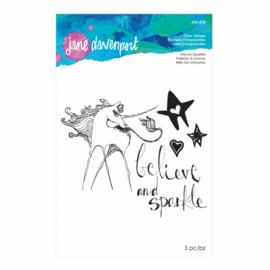 JDS-018 Jane Davenport Clear Stamps Unicorn Sparkle