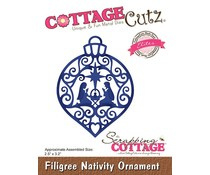 CCE-513 Cottage Cutz Die  Filigree Nativity Ornament