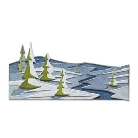 664971 Sizzix Thinlits Die Set Snowscape Colorize Tim Holtz