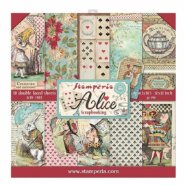 SBBL52 Stamperia Alice 12x12 Inch Paper Pack