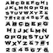 "CMS-LG 370 Tim Holtz Cling Stamps Blockprint 7""X8.5"""