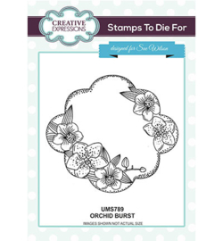 UMS789 Stamps To Die For Orchid Burst