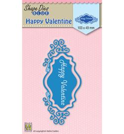 SDB028  Nellie's Choice Shape Dies Happy Valentine