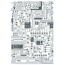 665372 Sizzix Multi-Level Textured Impressions Embossing Folder Circuit Tim Holtz