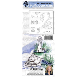 584627 Art Impressions Bible Journaling Watercolor Rubber Stamps My Fortress