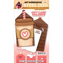 643917 Art Impressions Gift Card Holders Stamp & Die Set Java