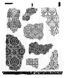 "CMS 368 Tim Holtz Cling Stamps Fragments 7""X8.5"""