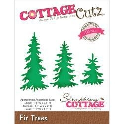 500644 CottageCutz Elites Die  Fir Trees