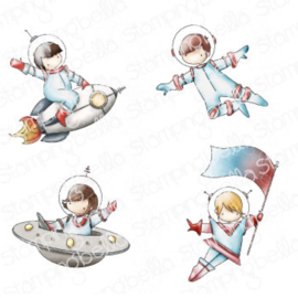 662020 Stamping Bella Cling Stamps Tiny Townie Astronauts