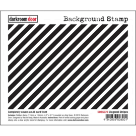 "DDBS070 Darkroom Door Background Cling Stamp Diagonal Stripes 4.3""X6.1"""