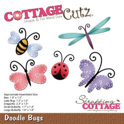 "303259 CottageCutz Elites Die Doodle Bugs, 1.3"" To 2.3"""
