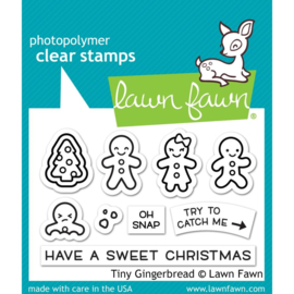 """LF2417 Lawn Fawn Clear Stamps Tiny Gingerbread  3""""X2"""""""