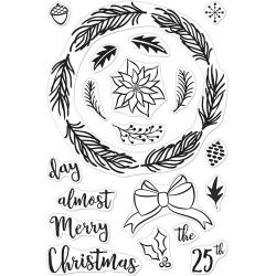 "557709 Hero Arts Clear Stamps Winter Wreath  4""X6"""