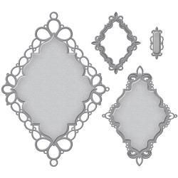 S4658 Spellbinders Nestabilities Decorative Elements Dies Label 56 Decorative Accent