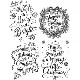 CMS 285 Tim Holtz Cling Stamps Doodle Greetings #1