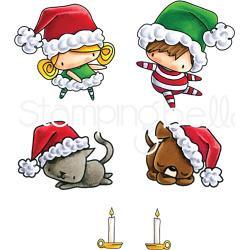 257420 Stamping Bella Cling Stamps Santa Kids & Pets