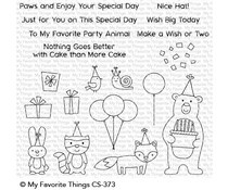 CS-373 My Favorite Things Birthday Bear & Friends Clear Stamps