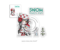PD7963 Polkadoodles Winnie Snow Much Fun Clear Stamps