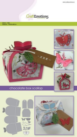 115633/1504 CraftEmotions Die chocolate box butterfly Card A5 box 55x43x40 mm