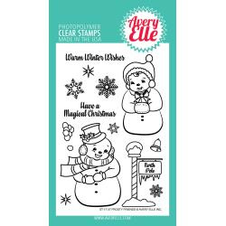 "106328 Avery Elle Clear Stamp Set Frosty Friends 4""X6"""