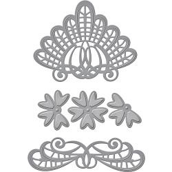 S4791 Spellbinders Shapeabilities Dies By Becca Feeken Venise Lace-Isadora Trinkets