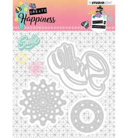 STENCILCR157 -Cutting and Embossing Die Create Happiness nr.157