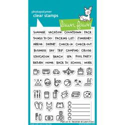 "LF1422 Lawn Fawn Clear Stamps Plan On It: Vacation 4""X6"""