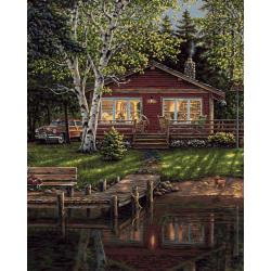 "307471 Paint By Number Kit Simpler Times 16""X20"""