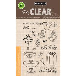 "HA-CM234 Hero Arts Clear Stamps Make A Fountain 4""X6"""