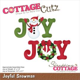"CC922 CottageCutz Dies Joyful Snowman 4"" To 1.9"""