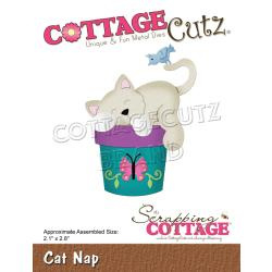 "561314 CottageCutz Dies Cat Nap 2.1""X2.8"""