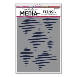 MDS60635 Ranger Dina Wakley media stencil tornado