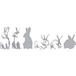 S6148 Spellbinders Indie Line Shapeabilities Dies Layered Rabbits