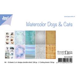 6011/0638 Bille Design Aquarell Dogs & Cats