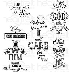 "318339 HCPC3815 Heartfelt Creations Cling Rubber Stamp Set Words Of Comfort 5""X6.5"""