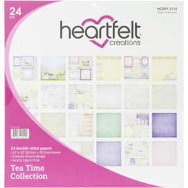 "HCDP1 2112 Heartfelt Creations Double-Sided Paper Pad Tea Time 12""X12"" 24/Pkg"