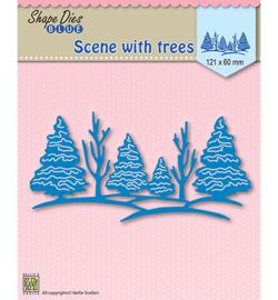 SDB003 Shape Dies Scene with trees
