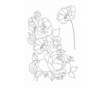CS-445 My Favorite Things Rose Garden Clear Stamps