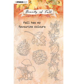 SL-BF-STAMP62 StudioLight Clear stamp Mushrooms & Pumpkins Beauty of Fall nr.62